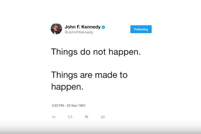 JFK is now tweeting from beyond the grave