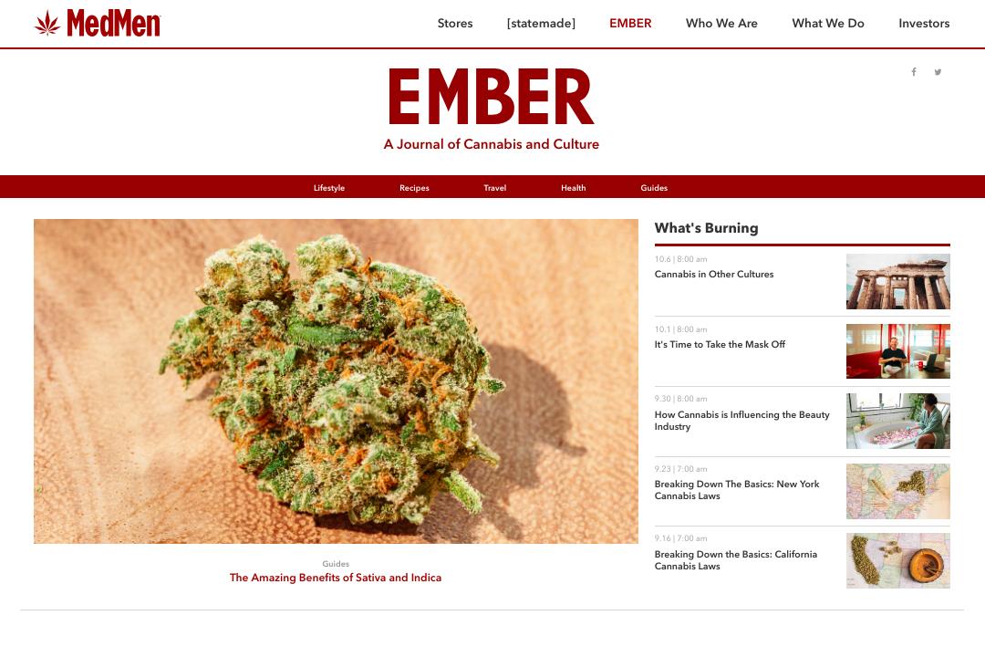 MedMen's Ember magazine expands into a digital content platform<br /><br />