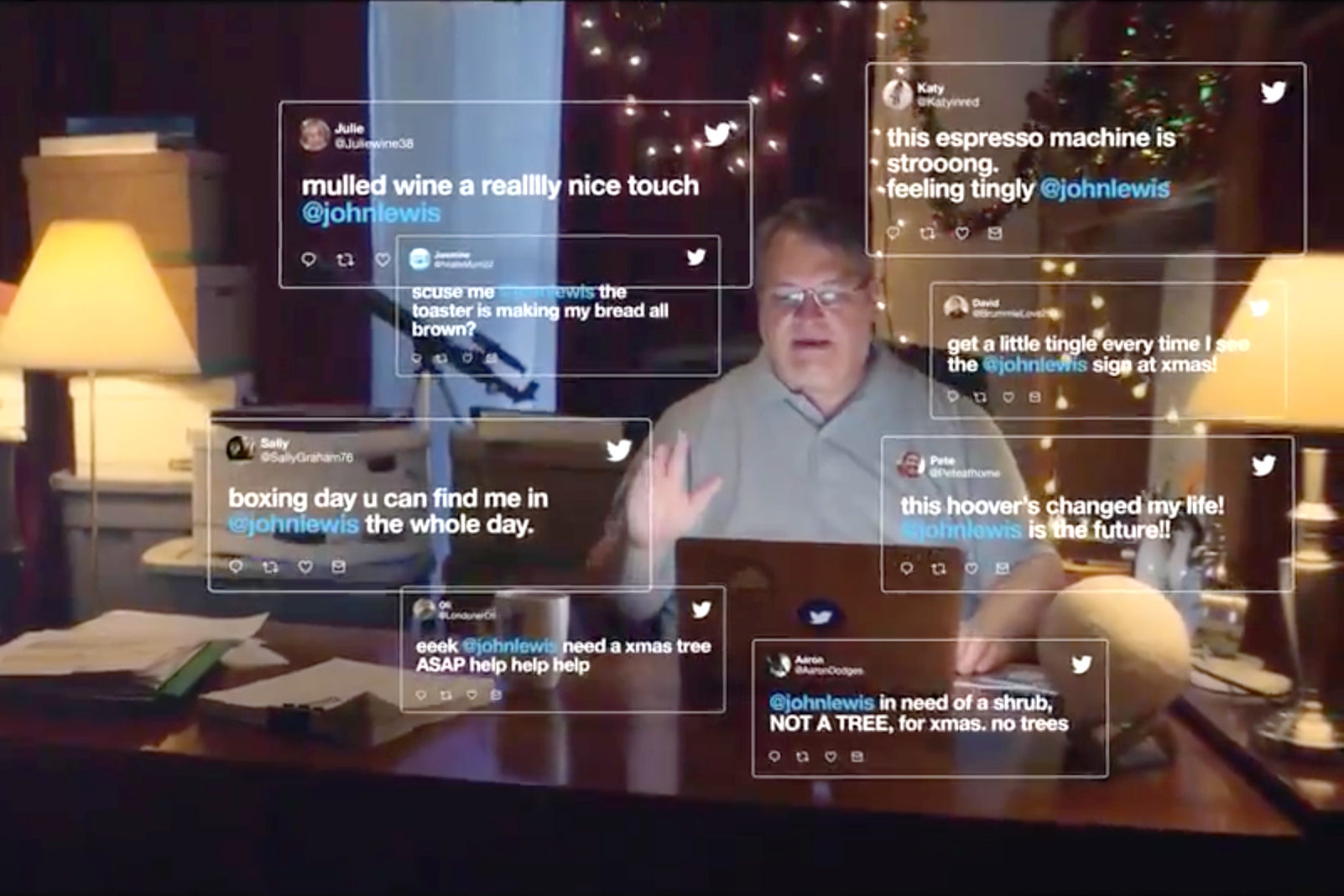 John Lewis (a man, not the store) stars in Twitter's U.K. Christmas ad