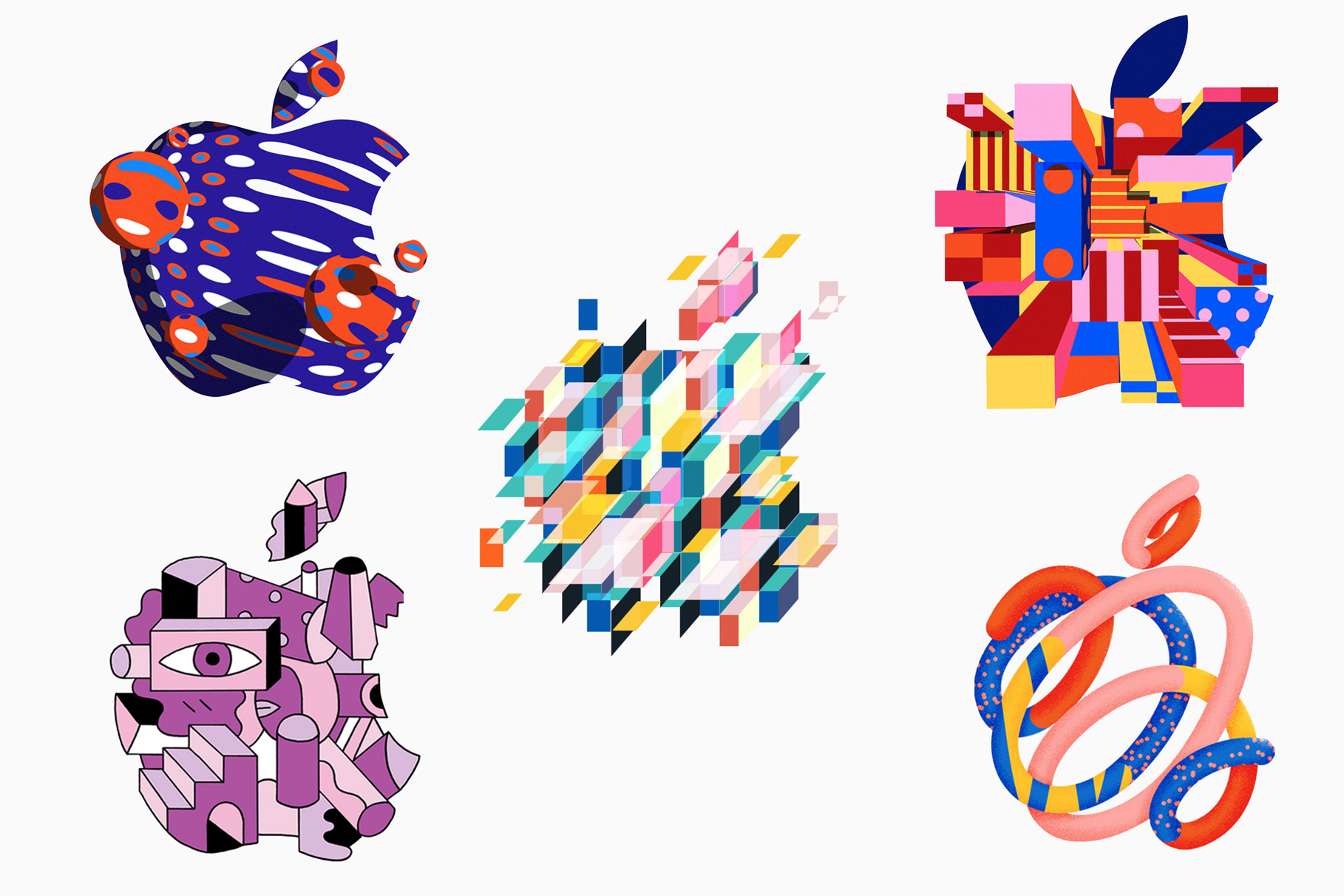 Apple unleashed a logo extravaganza to announce its upcoming special event
