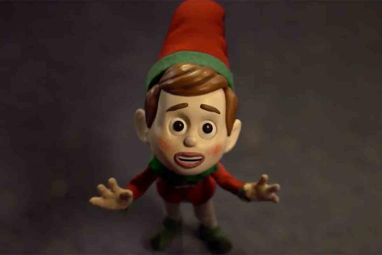 myer a frustrated elf seeks superior decorations in myer and aardmans latest holiday film - Animated Christmas Elves Decorations