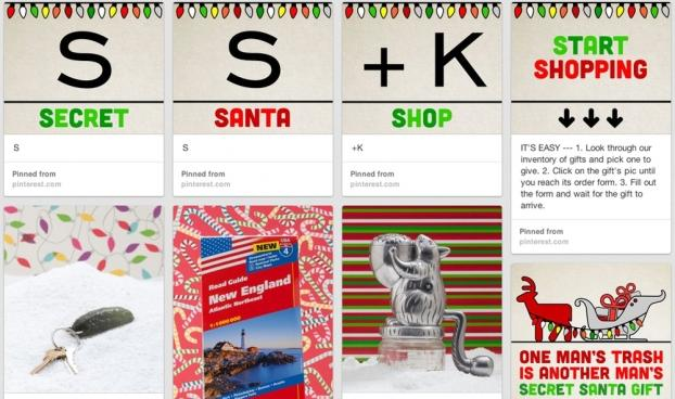 SS Ks Holiday Pinterest Site Is An Elaborate Game Of Secret Santa